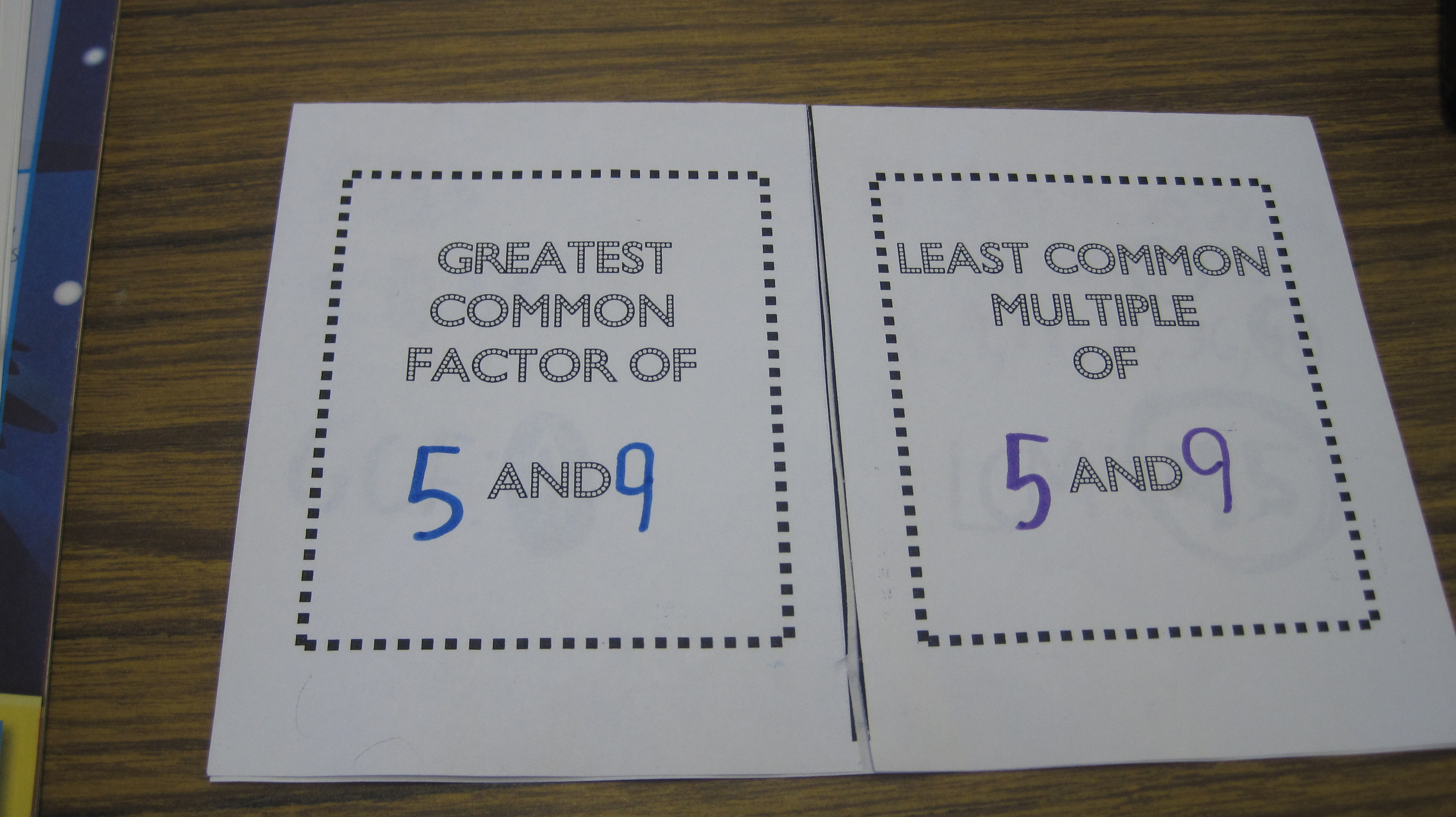 LCM and GCF Foldable – Least Common Multiple and Greatest Common Factor Worksheets