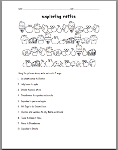 Sweet Exploring Ratios Worksheet | tothesquareinch