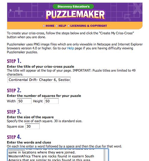 So I Go On Over To The Puzzlemaker Website Type In All Of My Info And Then Remember Why Dont Ever Make Puzzles It