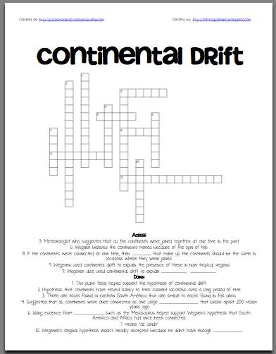 Worksheets Continental Drift Worksheet continental drift worksheet all about 5th 10th grade lesson planet