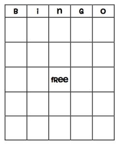 Blank Bingo Board Tothesquareinch