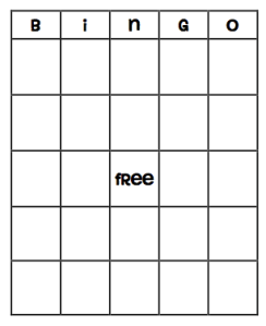 It is a picture of Crafty Printable Blank Bingo Board