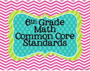 Common Core Math: 6th Grade