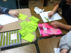 Working with integer task cards