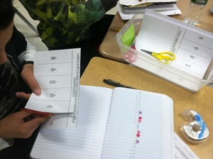 Students filled out foldables in their interactive notebooks