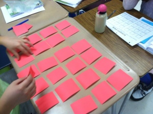 Integer Pick! Students turned over integer cards and placed them on number lines in order